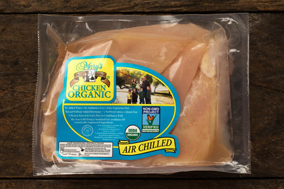 Thumb 400 mary s free range chicken organic boneless skinless chicken breasts 1 25 lb