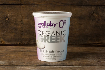 Thumb 400 wallaby organic greek fat free plain yogurt 32 oz