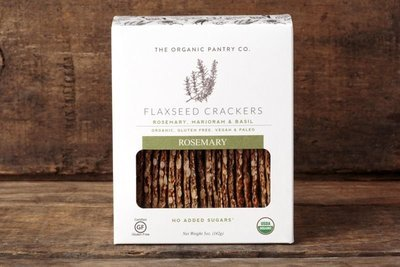 Thumb 400 the organic pantry co rosemary flaxseed crackers 5 oz