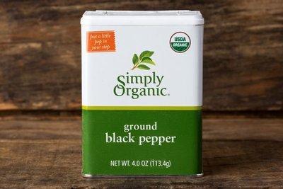 Thumb 400 simply organic ground black pepper tin 4 oz